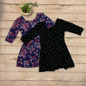 Old Navy Girls 3/4 Length Sleeve Dress Lot